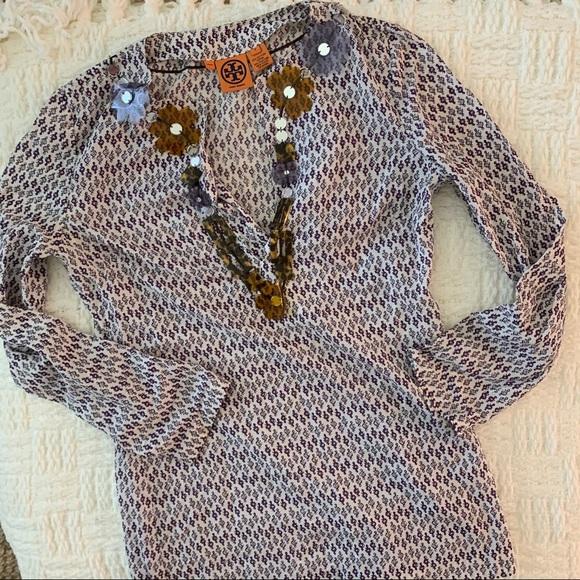 Tory Burch Boho Silk-Cotton blend Tunic